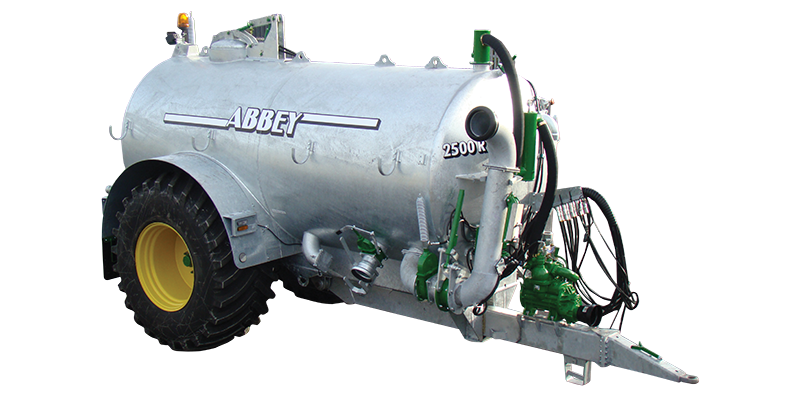 recessed axle slurry tankers